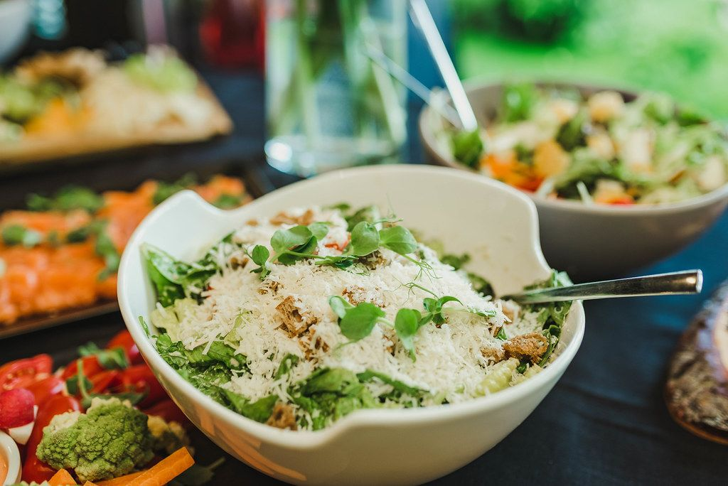 Bowl Of Vegetable and Cheese Salad