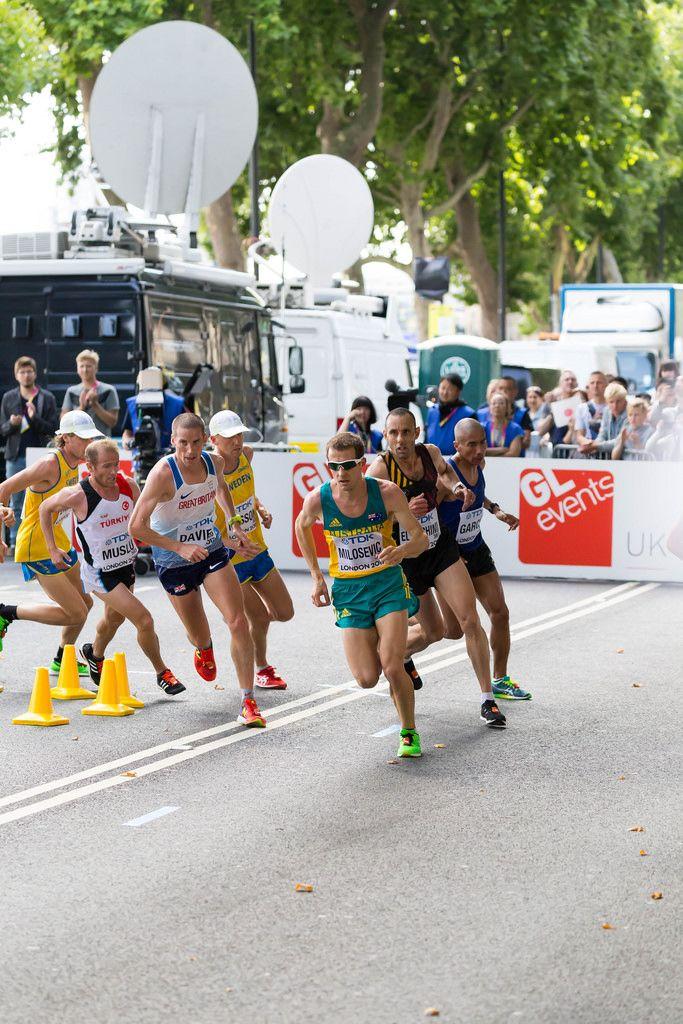 Brad Milosevic und weitere Läufer (Marathon Finale) bei den IAAF Leichtathletik-Weltmeisterschaften 2017 in London
