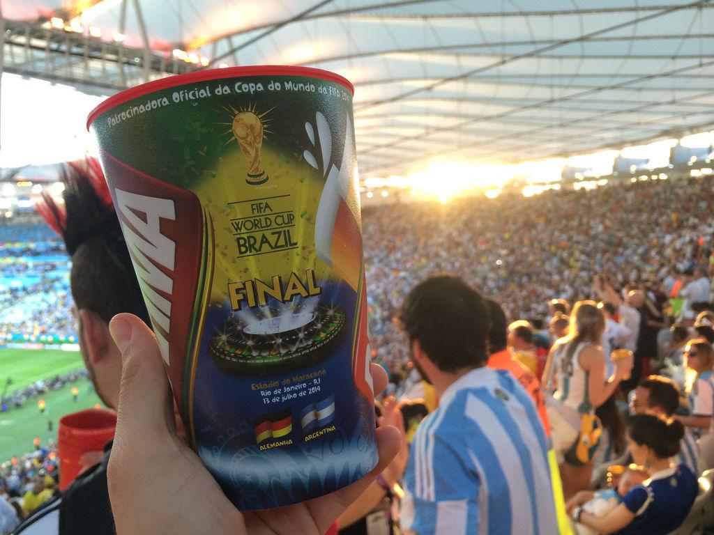 Brahma-Becher vom WM-Finale Deutschland gegen Argentinien
