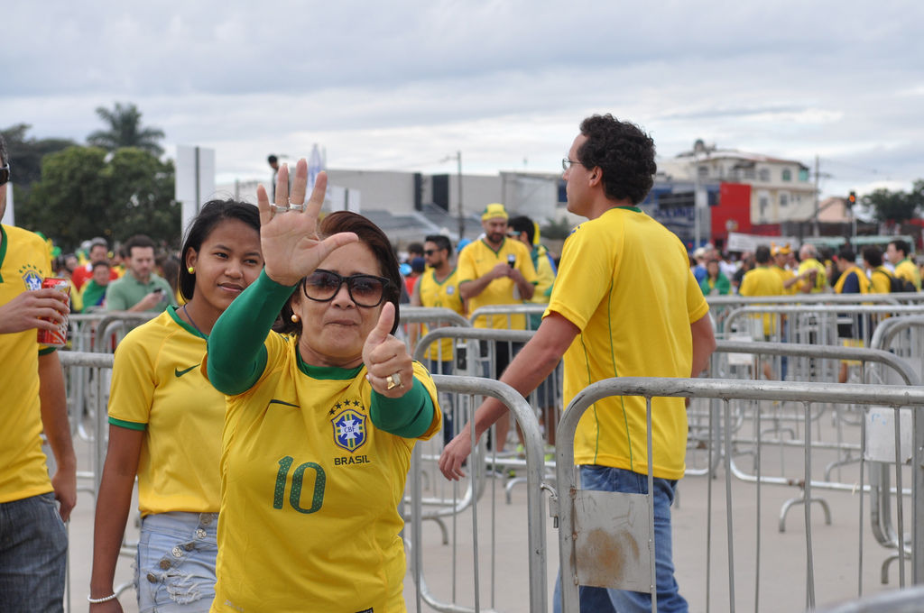 Brasilianische Fans bei der Fußball-WM 2014