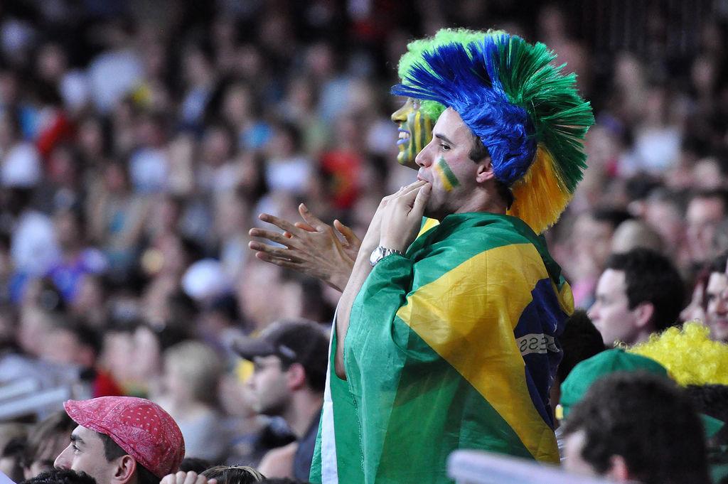 Brasilianische Fans beim Basketball
