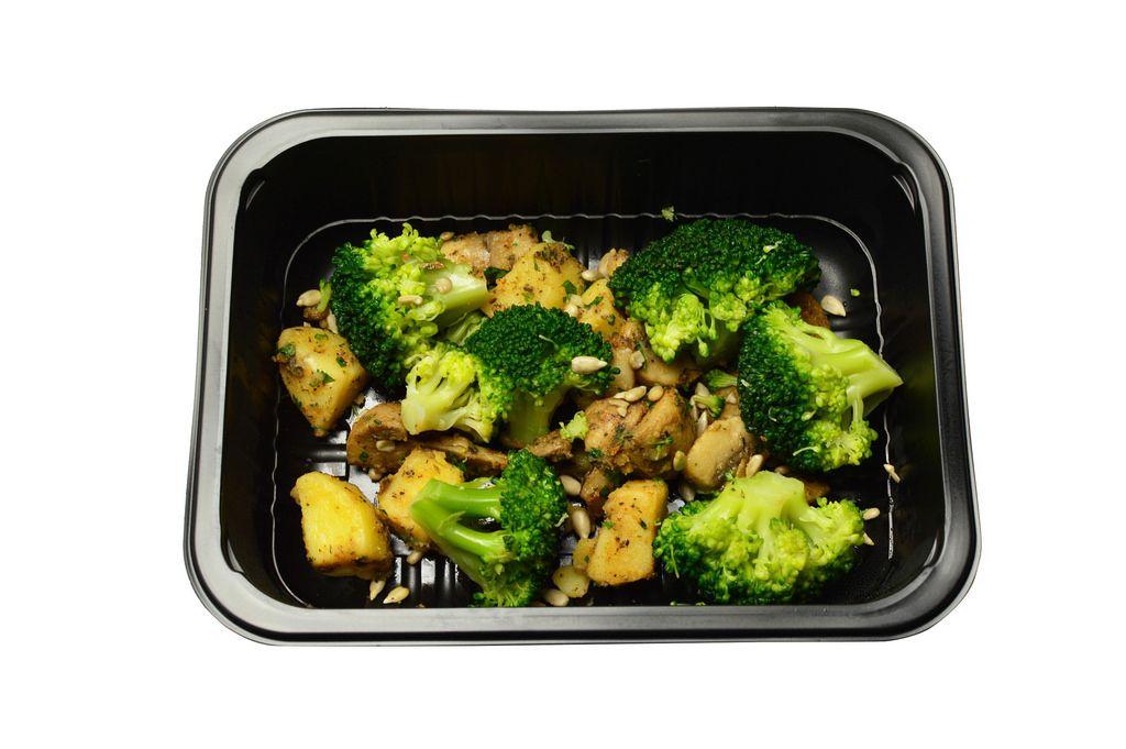 Bratkartoffeln mit Pilzen und Brokkoli