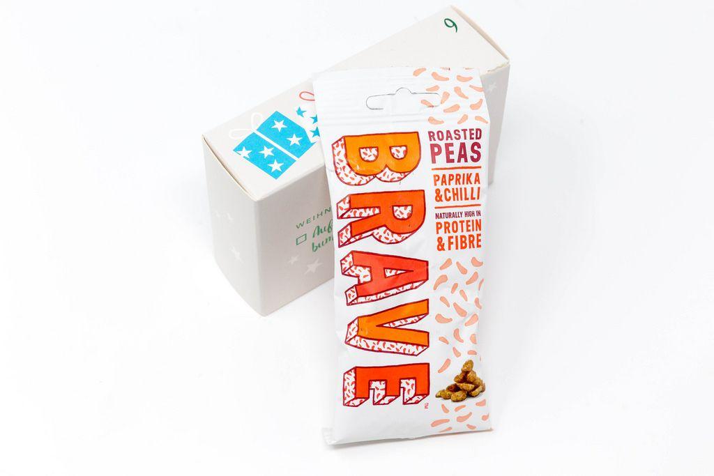 Brave - geröstete Erbsen mit Parpika und Chilli aus dem neunten Türchen des veganem Foodist Active Adventskalender