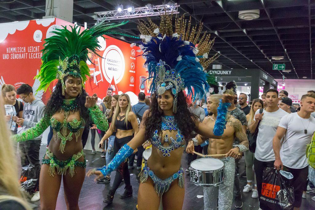 Brazilian Carnival style dancers - FIBO Cologne 2018