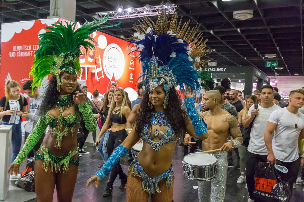 Brazilian Rio Carnival dancers - FIBO Cologne 2018