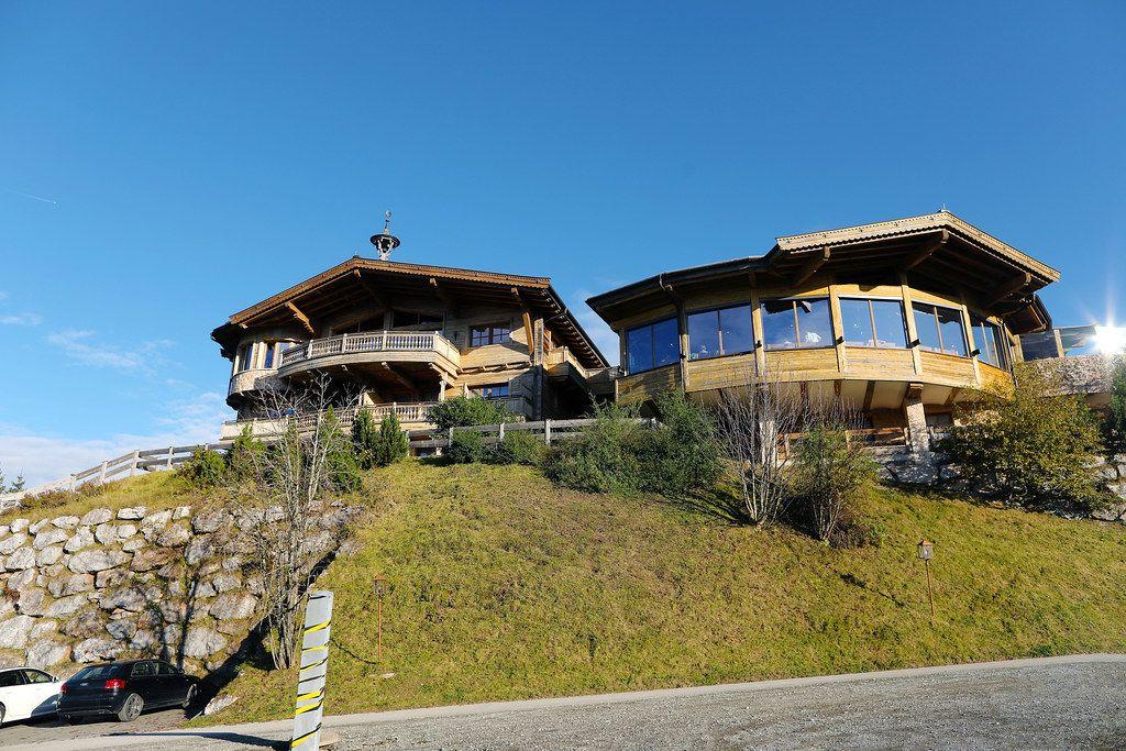 Brenneralm SkiWelt hut at 1250m above sea level in Tyrol, Austria