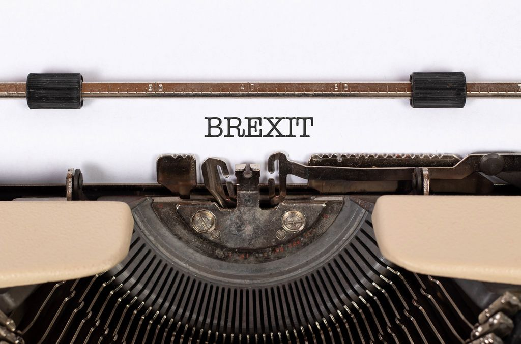Brexit printed on an old typewriter