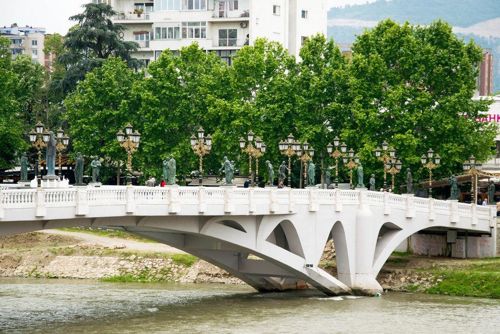 Bridge across the Vardar River in Skopje