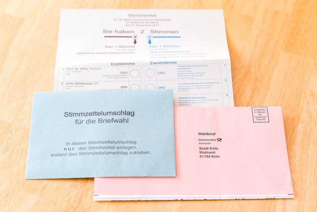 Briefwahl zur Bundestagswahl 2017 in Deutschland