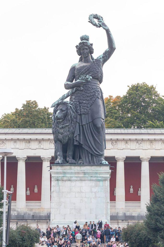 Bronzestatue Bavaria, München