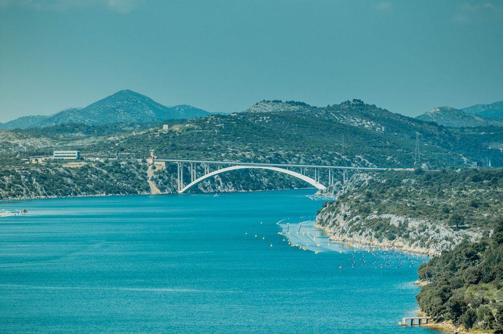 Brücke Kurabrücke in Šibenik, Kroatien