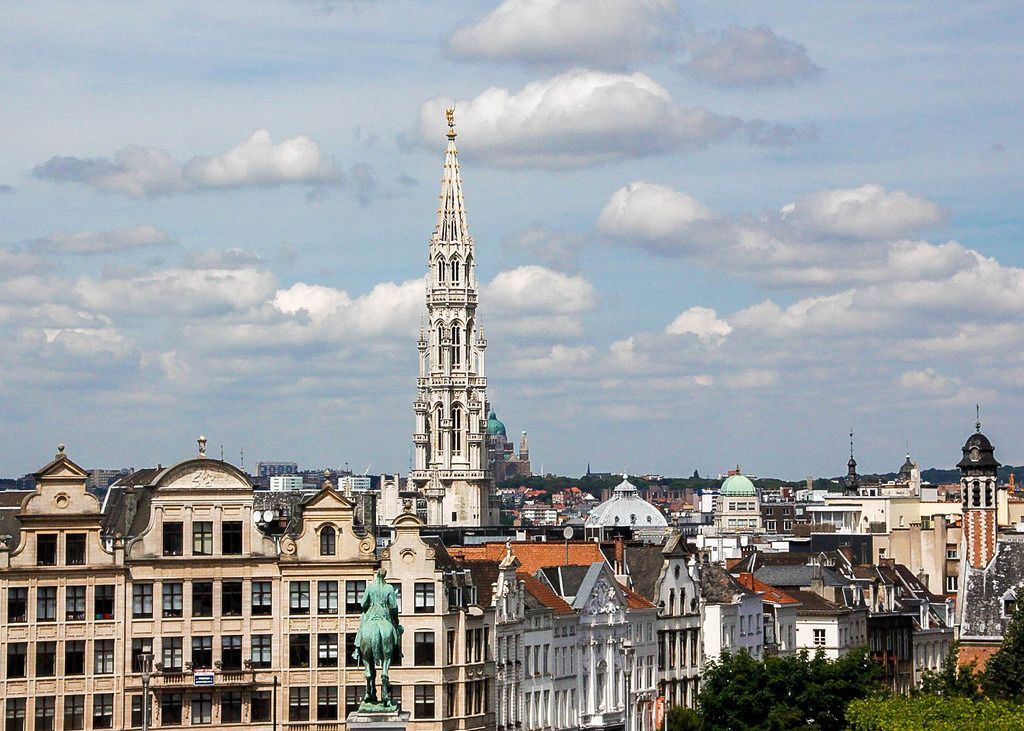Brussels city view