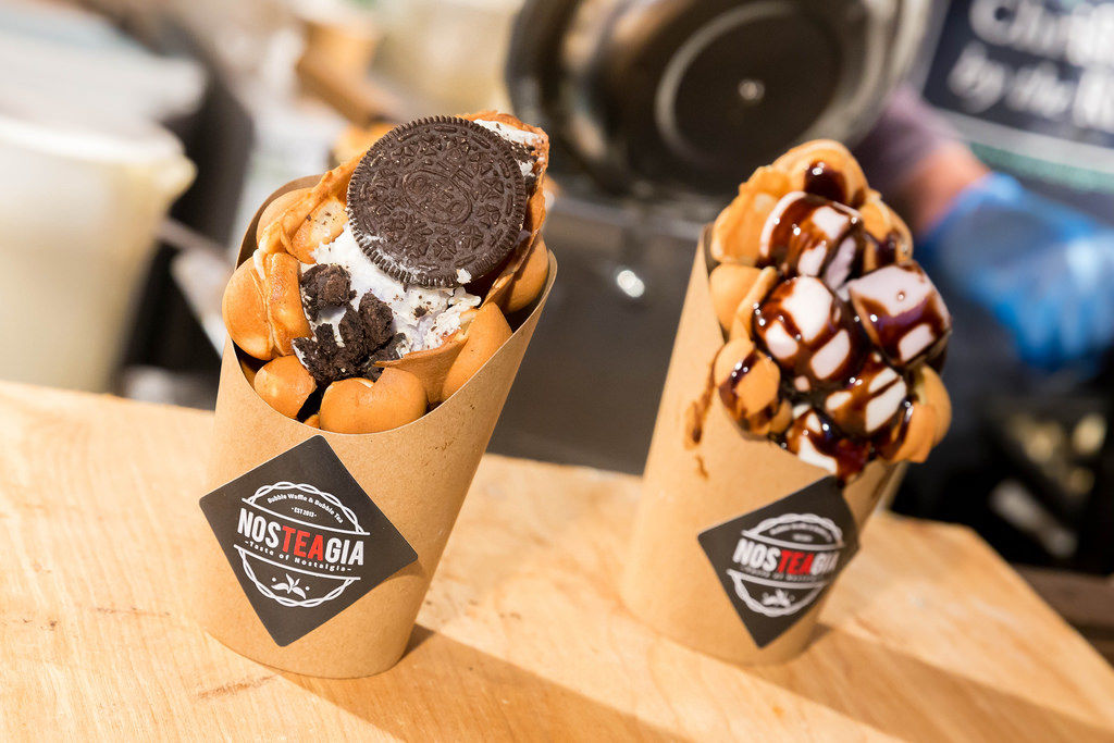 Bubble Waffle: Mr. Oreo & Marshmellow Chocolate