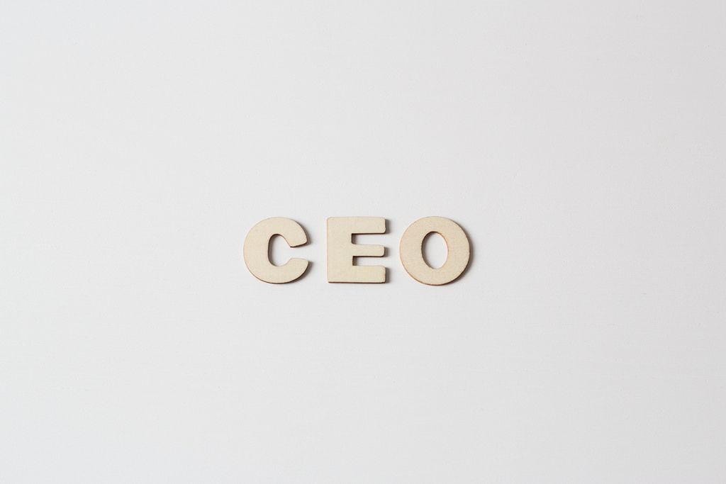 Buchstaben vor weißem Hintergrund: CEO