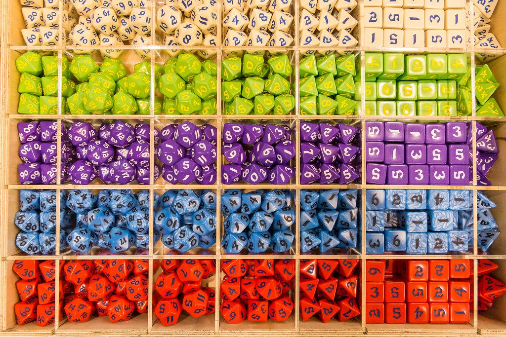 Bunte Große Spielewürfel in verschiedenen Variationen
