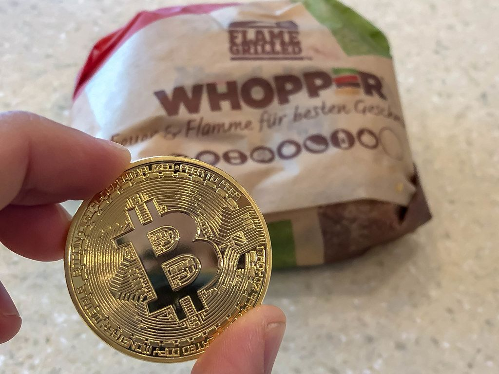 Burger King Whopper paid with Bitcoin