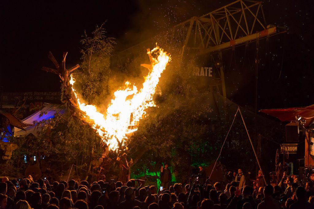 Burning Man is burning