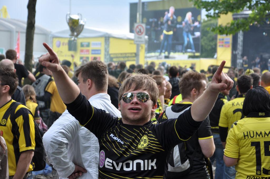 BVB Meisterfeier Fan