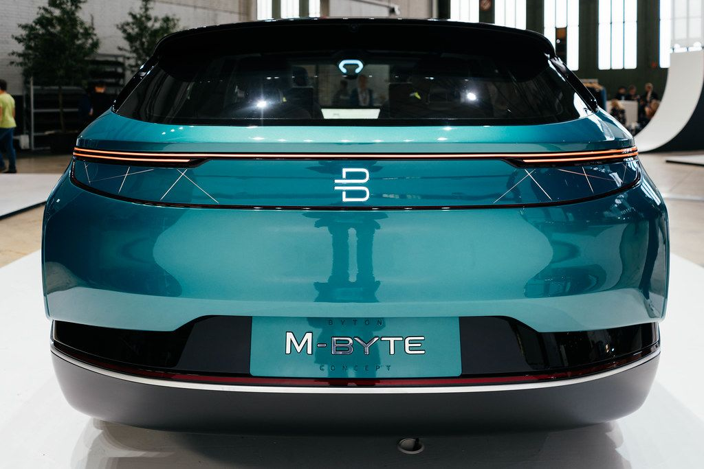 Byton M-Byte concept of future self-driving rear view