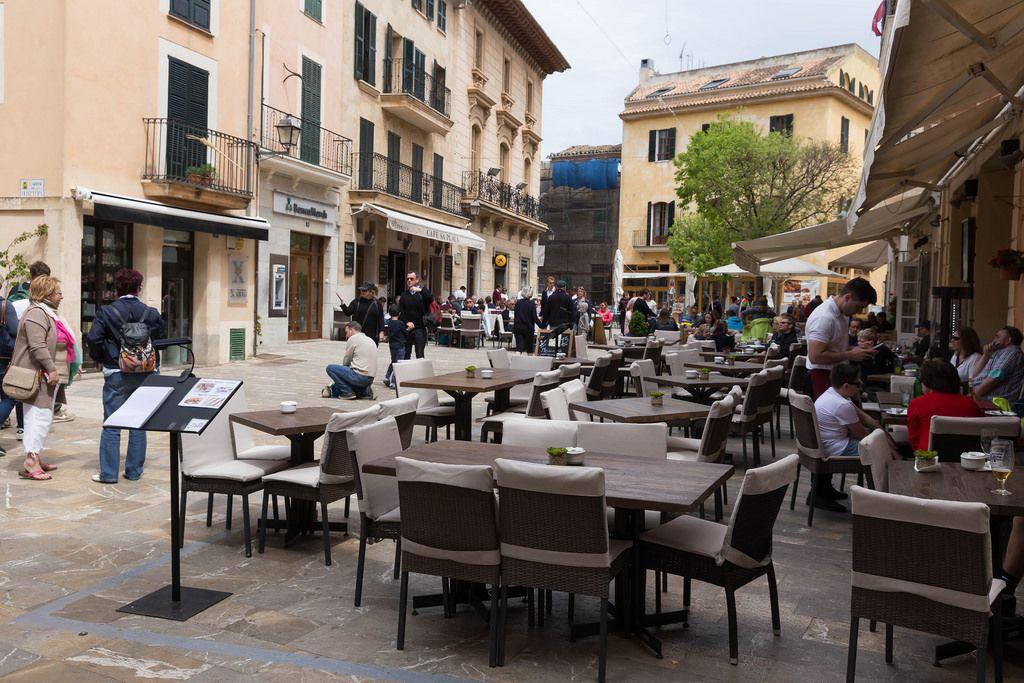 Café im Herzen von Alcúdia