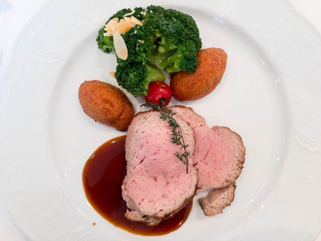 Calf with Potato and Broccoli