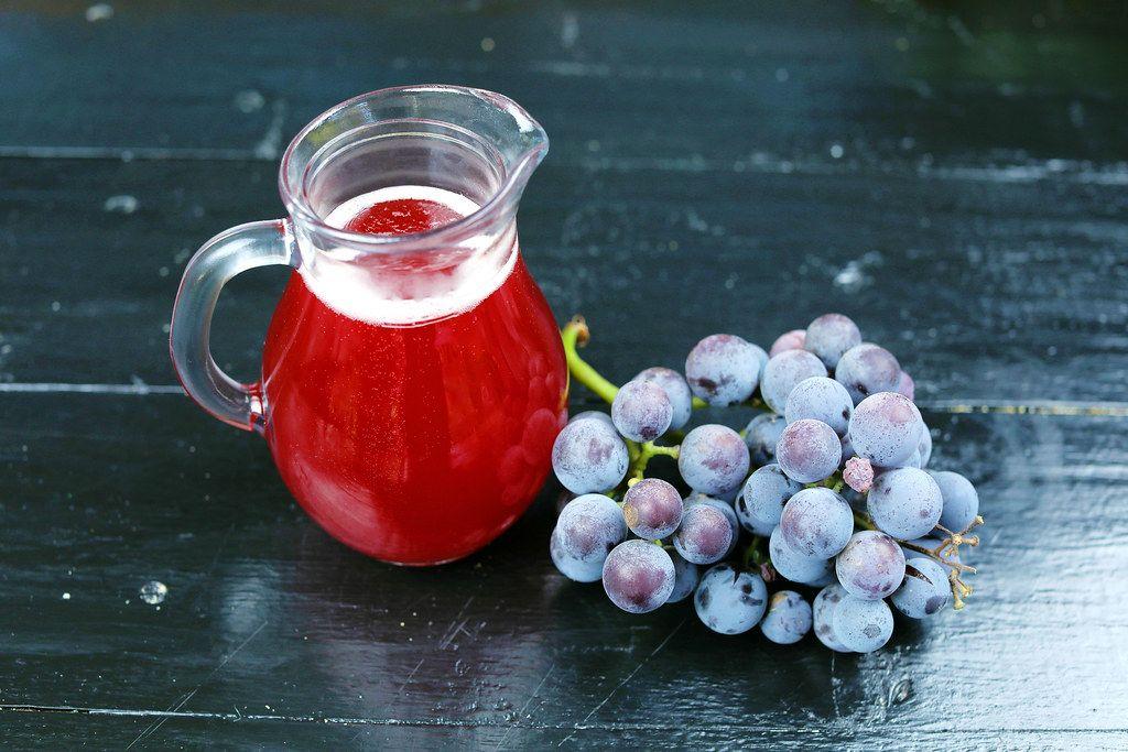 Carafe of fresh grape juice (Flip 2019)