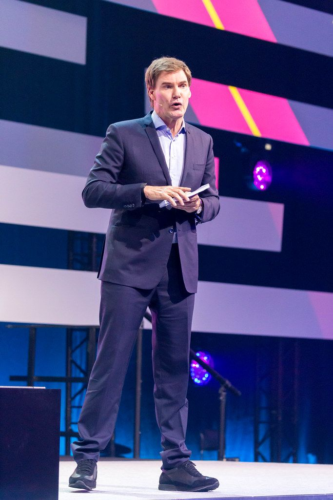 Carsten Maschmeyer, CEO of Maschmeyer Group and Investor on stage at Digital X 2019 in Cologne