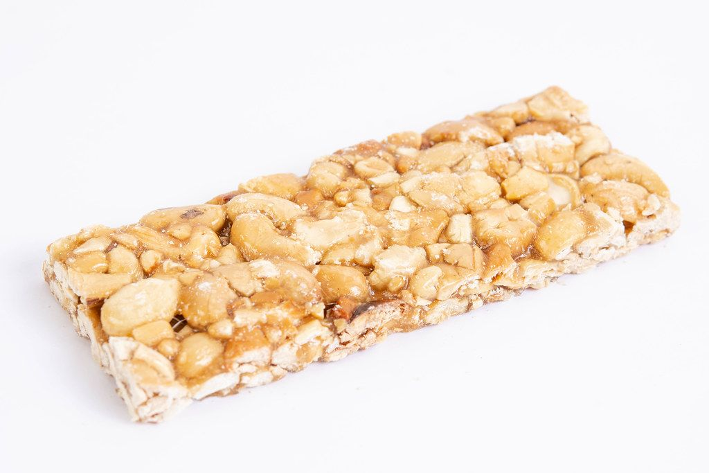 Cashew Bar isolated above white background