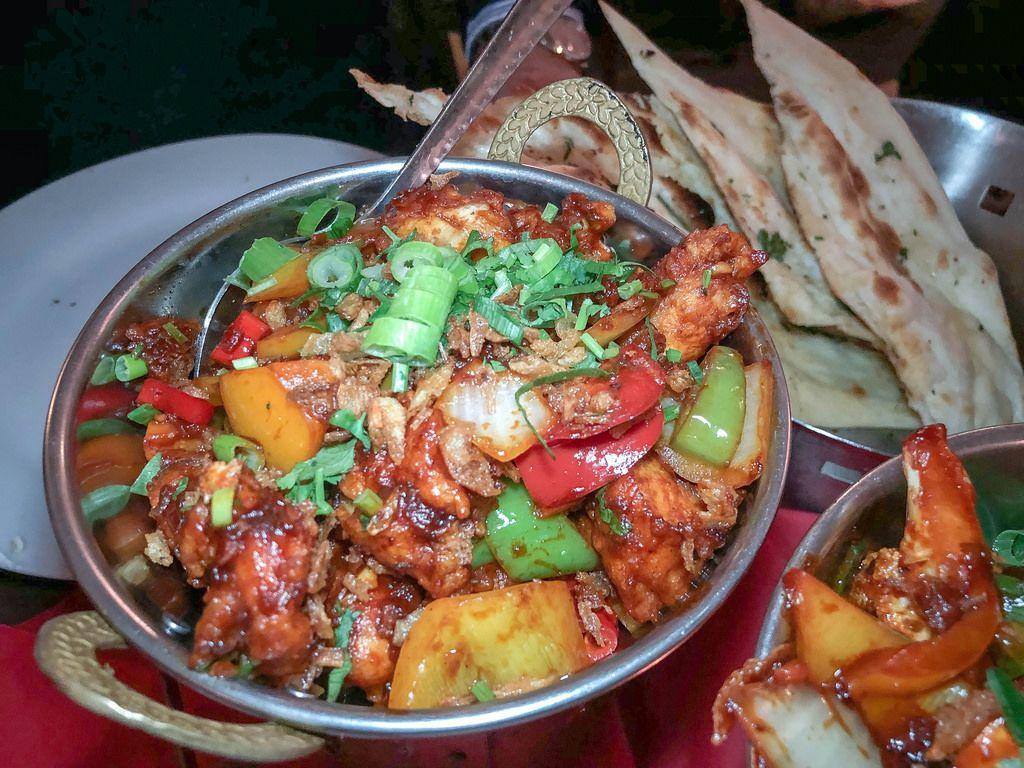 Chabji Garlic Chili - ein sehr scharfes indisches Gericht im Ginti Restaurant in Köln