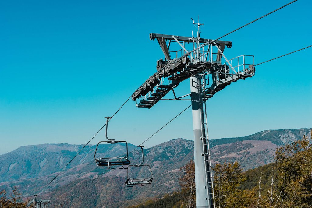 Chair Ski Lift at the Mountain Range
