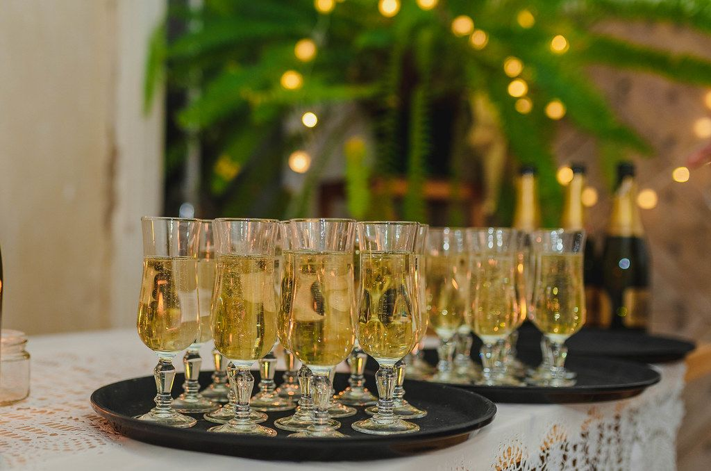 Champagne Glasses New Year Greeting