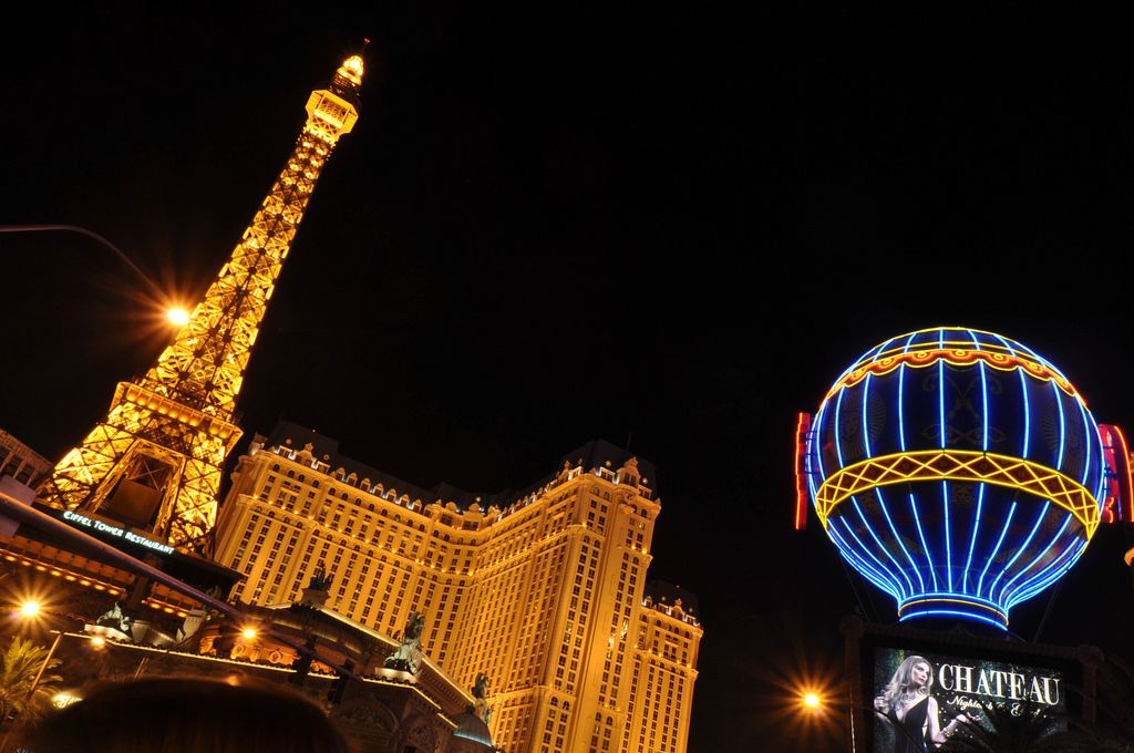 Chateau Nightclub mit der Nachbildung des Eiffelturms - Las Vegas