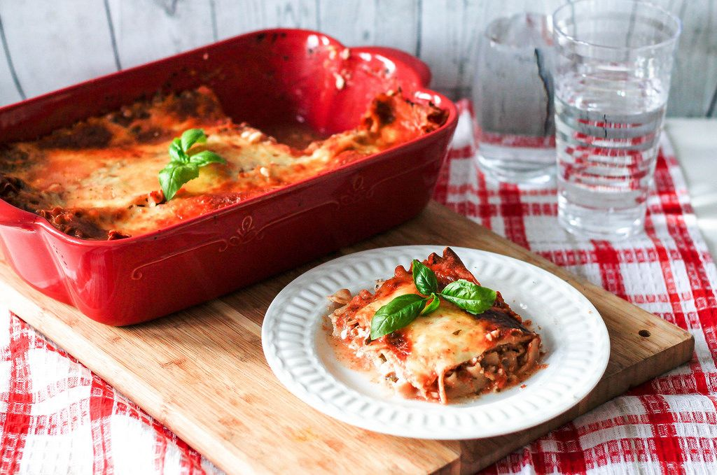 Cheese Lasagna with Basil