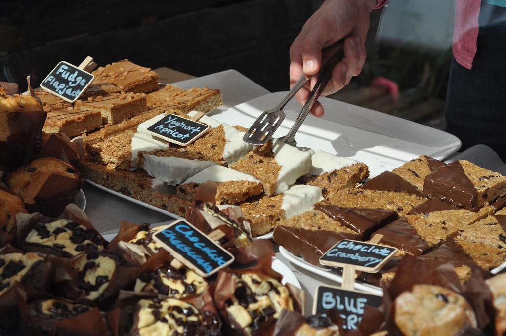 Cheesecake, Nussecken und Flapjacks
