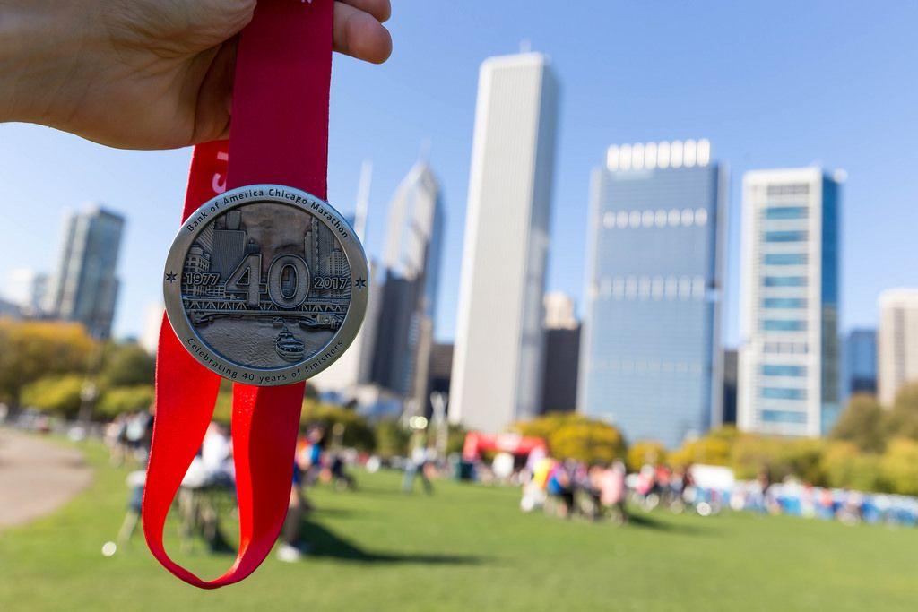 Chicago Marathon 2017 medal - Celebrating 40 years of finishers