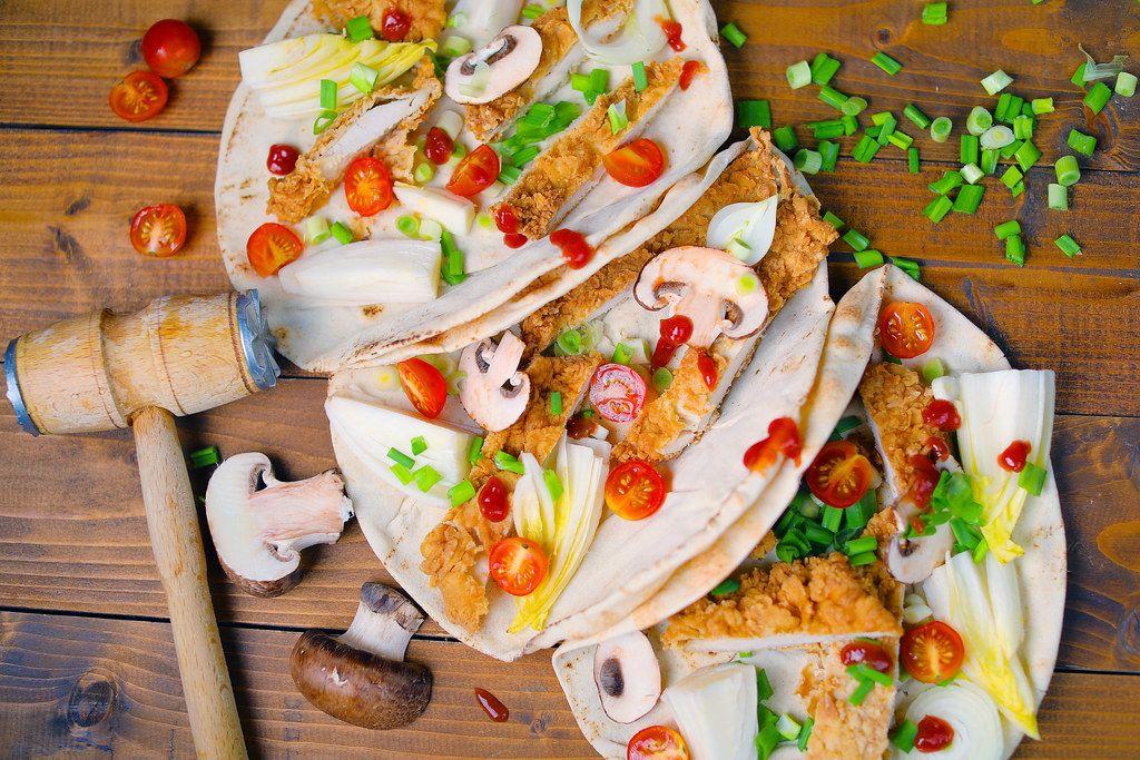 Chicken Wraps in libanesischem Pitabrot