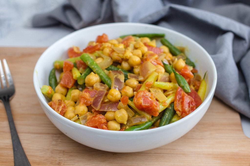 Chickpea Curry with vegetables in a Bowl  (Flip 2019)