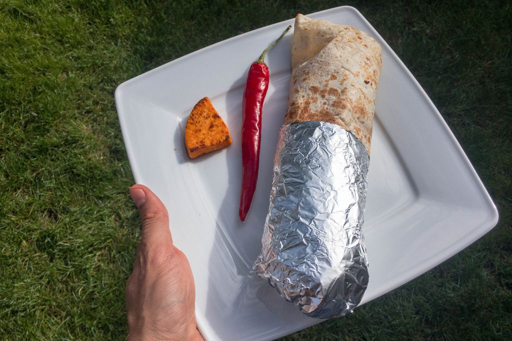 Chili-Wrap with Sweet Potato