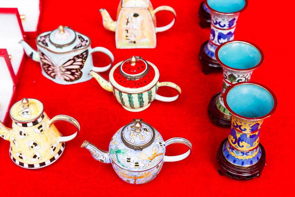 Chinesische Teekannen und Teetassen - Chinafest, Köln