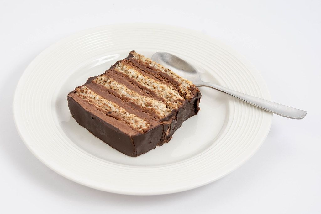 Chocolate Cake served on the plate