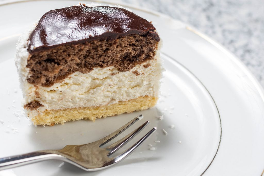 Chocolate Cake with white and black cream