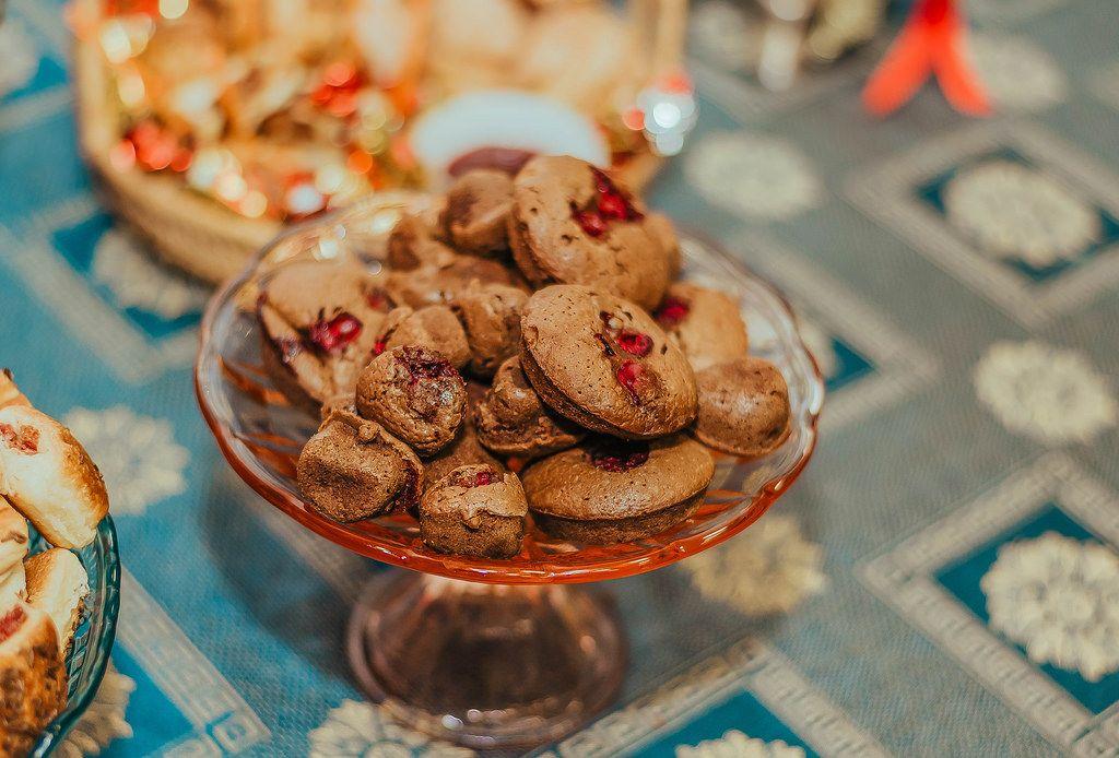 Chocolate Muffins With Cherries