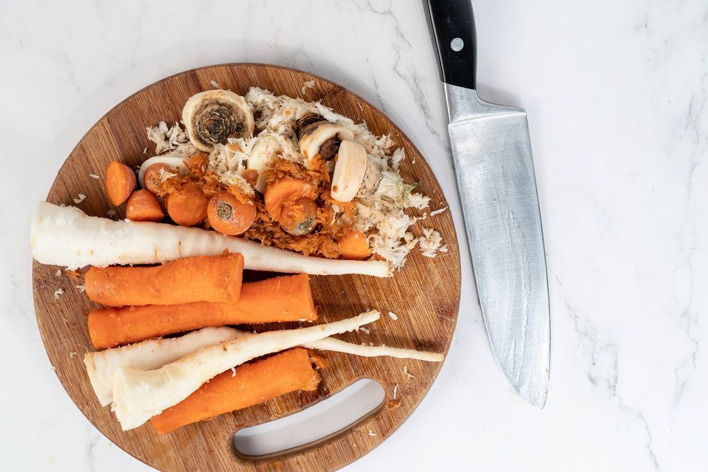 Chopped Carrot and Parsnip ready for cooking soup (Flip 2019)