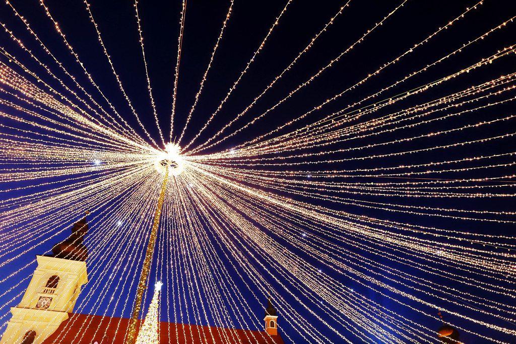 Christmas lights at Christmas fair