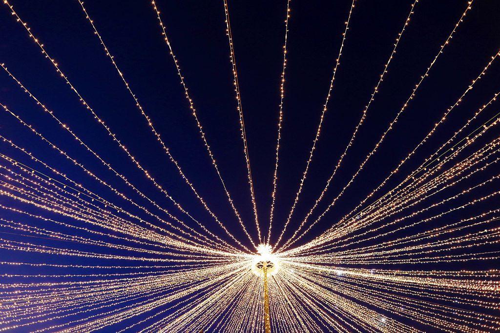 Christmas lights, star shape