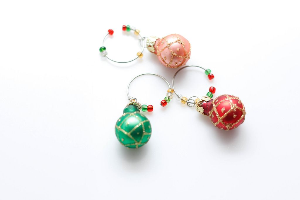 Christmas Small Ornements for Wine Glass