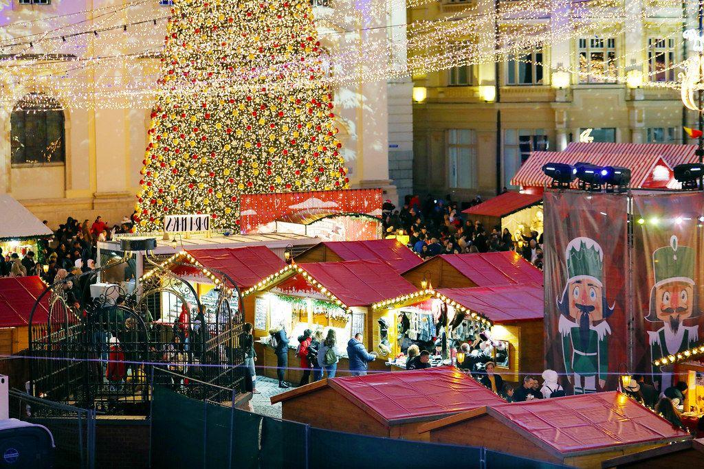 Christmas tree in Christmas market fair (Flip 2019)