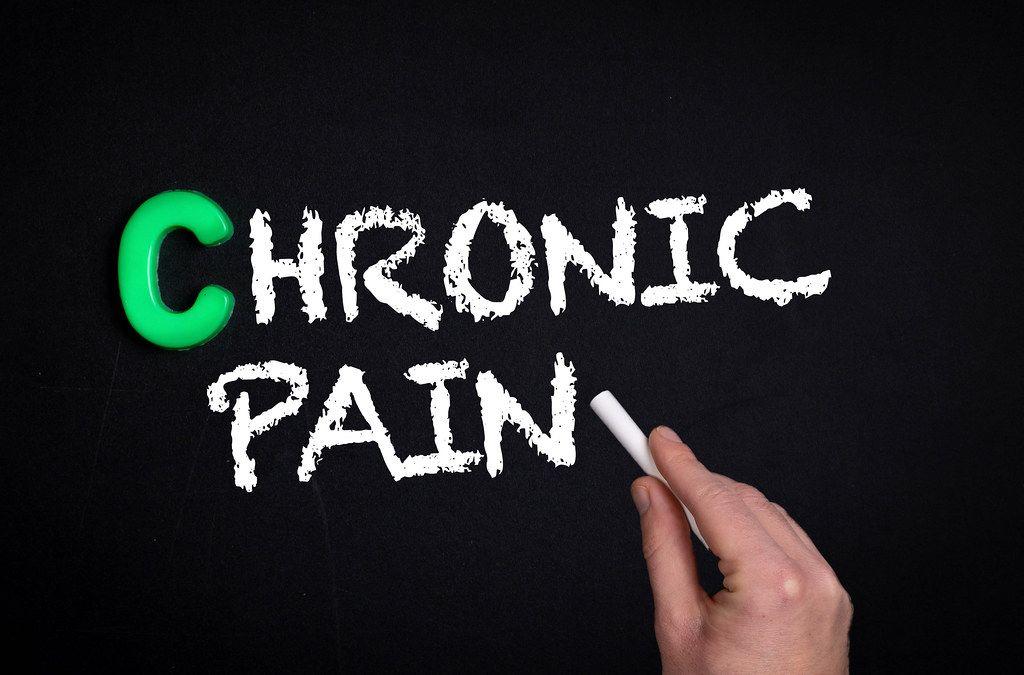 Chronic pain text on blackboard