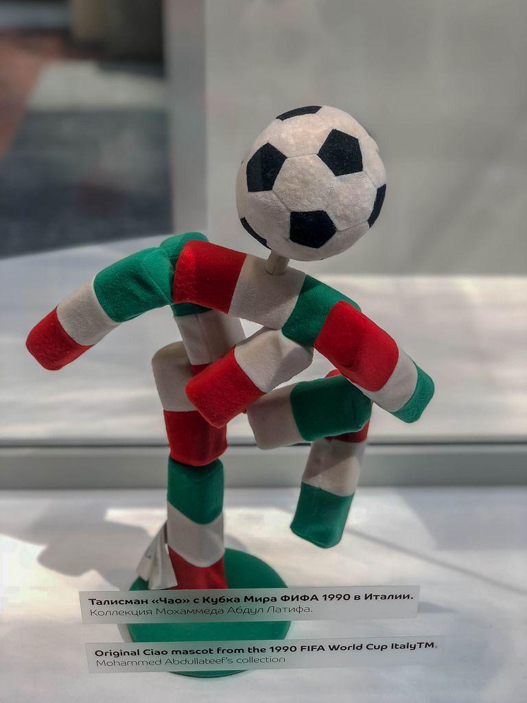 Ciao das offizielle Maskottchen der Fußball-Weltmeisterschaft 1990 in Italien