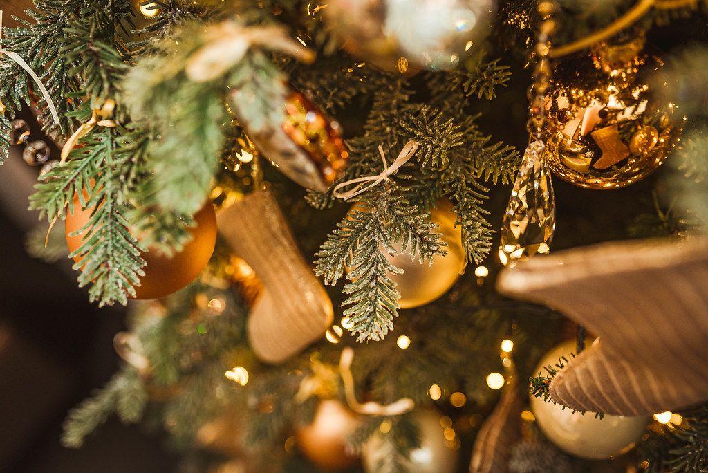 Close Up Of Christmas Tree Decor